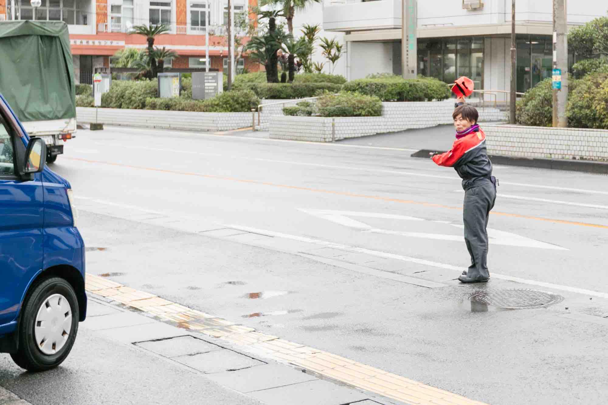 吉田商事 鳩浜ガソリンスタンド お車のお見送り