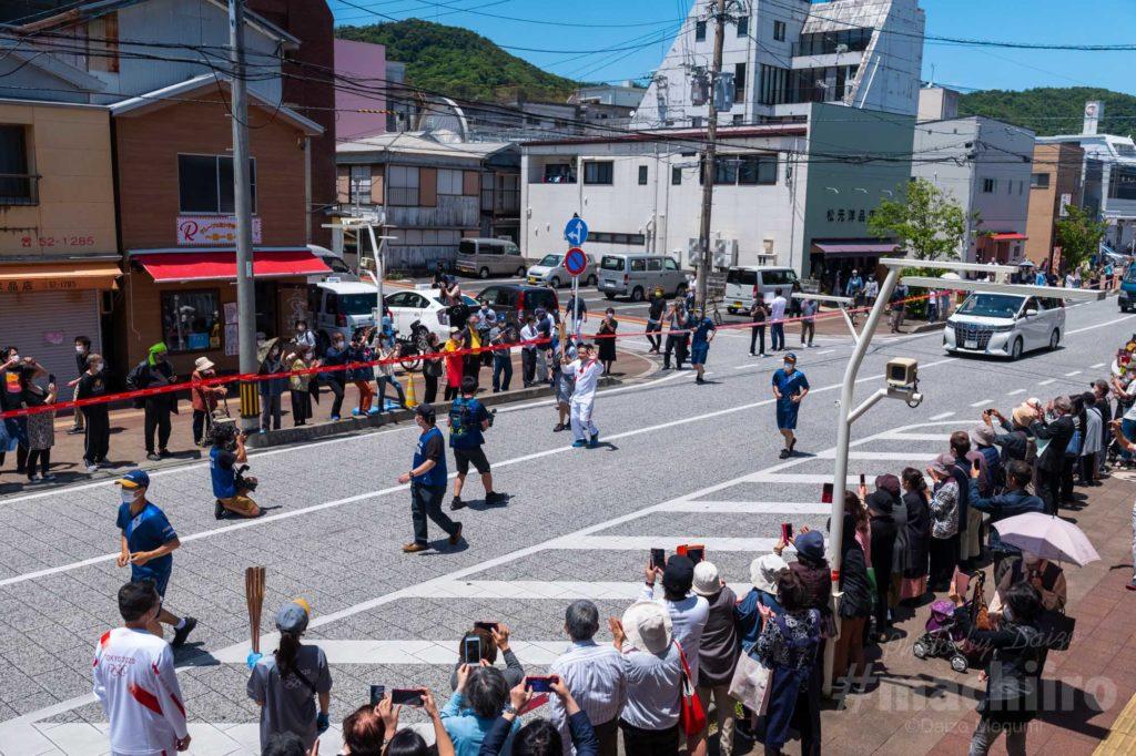 オリンピック聖火リレー 奄美大島なぜまち商店街 2